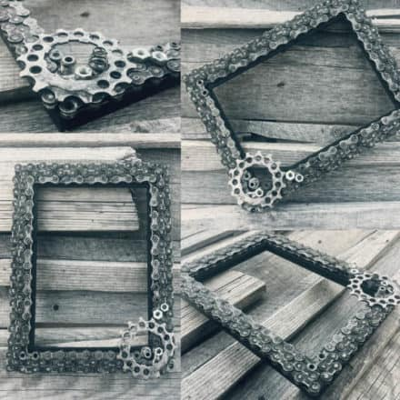 Bike Chains Upcycled Into Frames