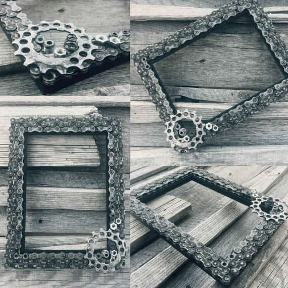 Bike Chains Upcycled Into Frames Bike & Friends