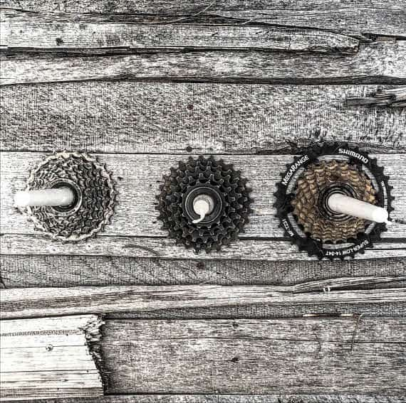 Bike Enthusiast Candleholder Accessories Upcycled Bicycle Parts
