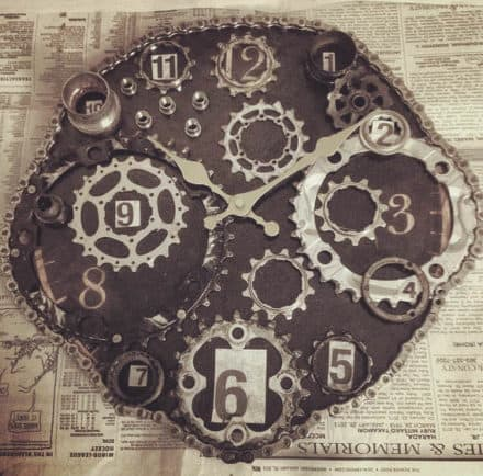 Clock From Upcycled Bike Parts