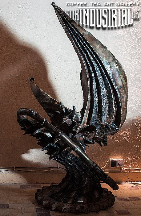 H.R. Giger Tribute Throne Recycled Art Recycled Furniture Recycling Metal