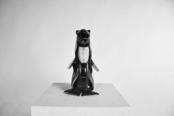 Penguin Made From Old Electronic Devices Recycled Plastic