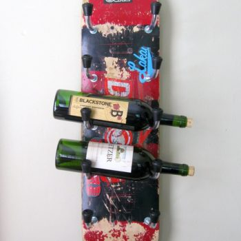Skateboard Wine Rack