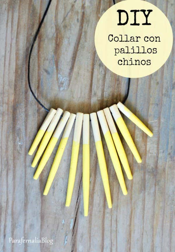 Upcycled Chopstick Into Necklace Upcycled Jewelry Ideas