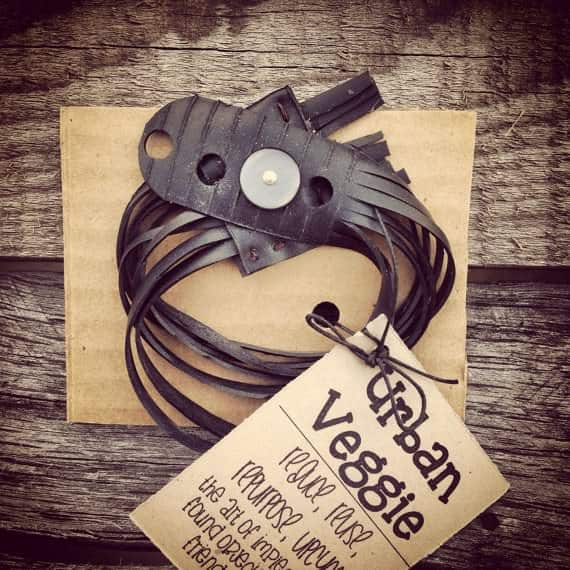 "Vegan ""leather"" Bracelets A.k.a. Bike Innertube Bracelets Accessories Bike & Friends"