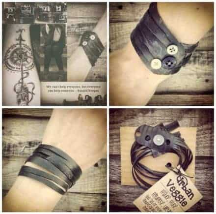 "Vegan ""leather"" Bracelets A.k.a. Bike Innertube Bracelets"