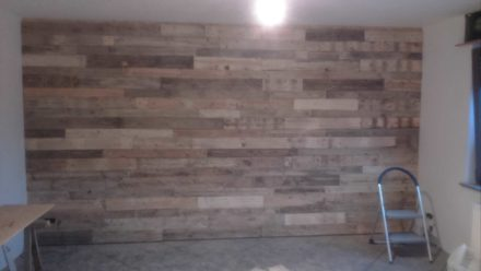 Wall Decoration Made From Recycled Pallets