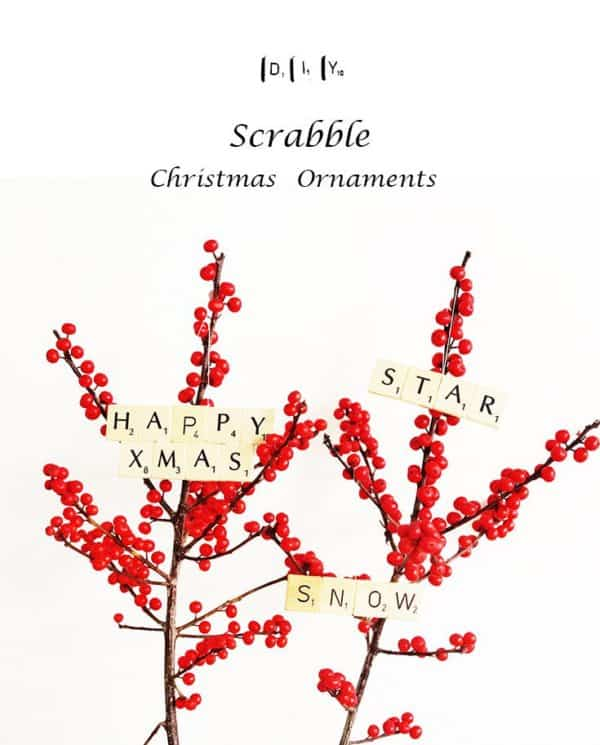 Scrabble Christmas Ornaments Do-It-Yourself Ideas