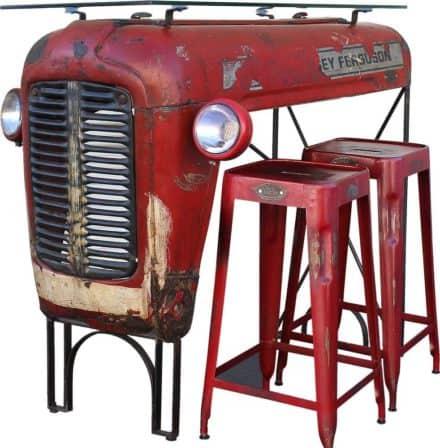 Vintage Massey Ferguson Tractor Upcycled Into Design Bar