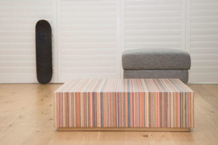 DecksPad™: Design Coffee Table From Upcycled Skateboard Decks