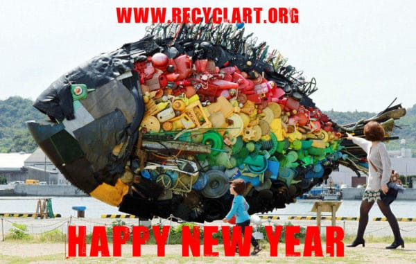 Happy New Year 2016! Recycled Art
