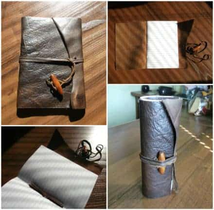 Scrap Leather Into Notebook