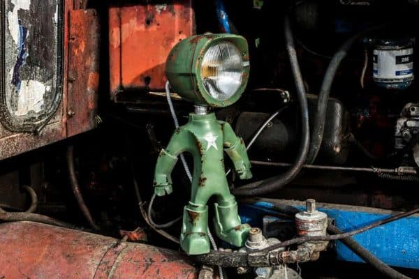 The Lampster: Robot Lights From Upcycled Vehicle Lamps Lamps & Lights Mechanic & Friends