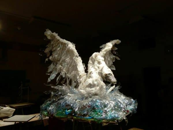 The Ugly Duckling: Made from Upcycled Plastic Bottles Recycled Art Recycled Packaging