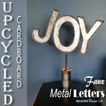 Upcycled Cardboard - Faux Metal Letters Holiday Decoration