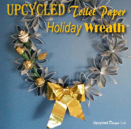 Upcycled Toilet Paper Roll Into Holiday Christmas Wreath