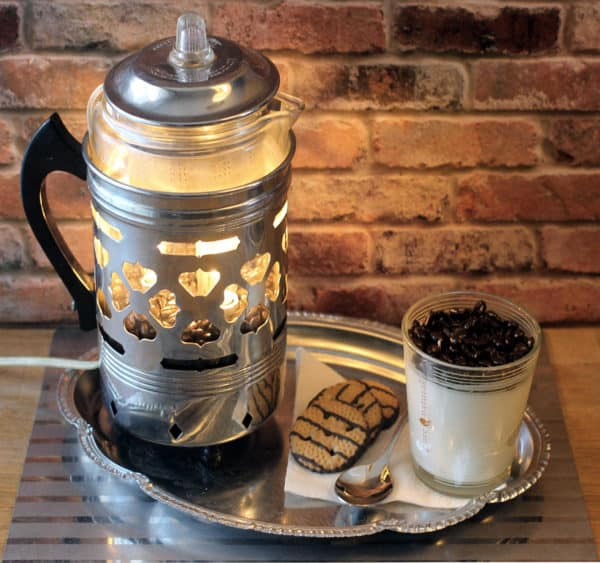 Vintage Lamp From a Repurposed 1940's Forman Percolator Coffee Pot Lamps & Lights