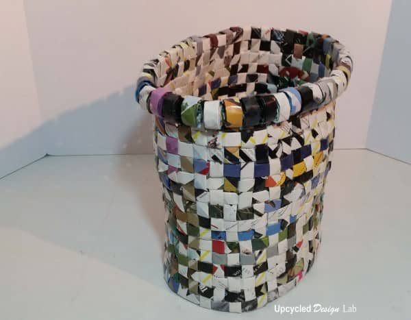 A Trash Can Made From Trash Do-It-Yourself Ideas