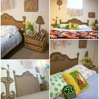 Cardboard Décor Ideas for a Kids Room or a Kids Party