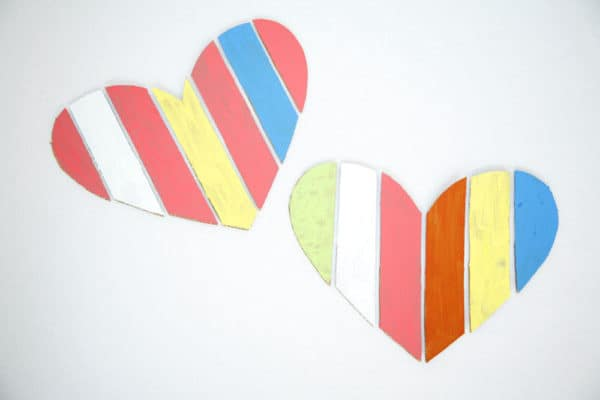 Cardboard Valentine Heart Do-It-Yourself Ideas Recycled Cardboard