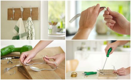 Diy: Beautiful Cutlery Hanging Rack