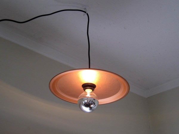 Old Copper Tray into Pendant Light Lamps & Lights Recycling Metal