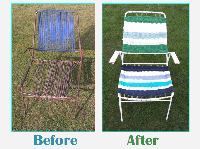 Old Garden Chair Revival – Nautical Style Recycled Furniture