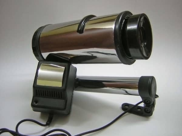 Old Slide Projector Optics into Design Lamp Lamps & Lights Recycled Electronic Waste