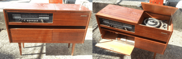 Original Retro Party Corners – From A Bedding Commode To a Bar Recycled Furniture