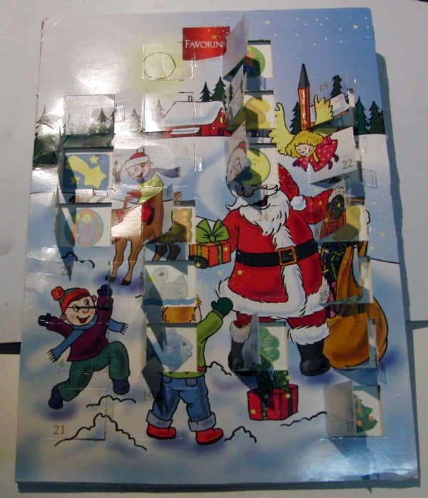 Recycling An Advent Calender as a Way to Introduce Numbers to Kids Recycled Cardboard