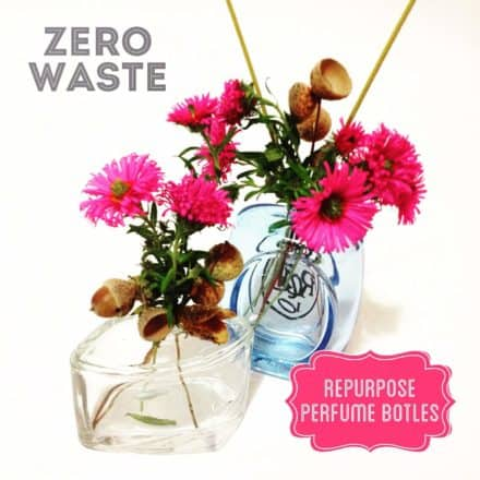 Repurposed Perfume Bottles As Flower Vases