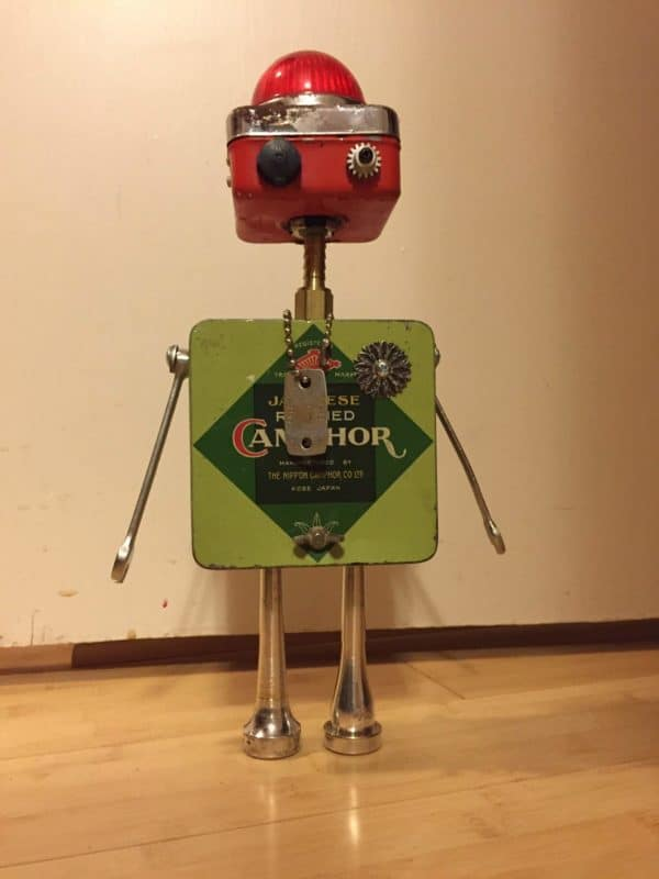 Robo-tins Recycled Art