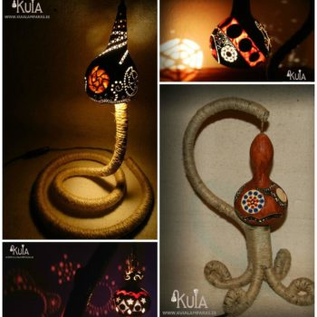 Design Ecological Lamps With Gourds