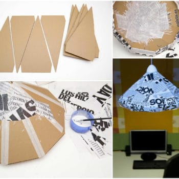 How To Make A Lamp With Cardboard And Paper