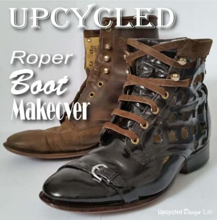 Lace Up Roper Boot Refashion