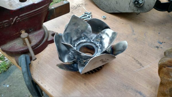 Metal Flower Stand For An Ornamental Marble Recycled Art