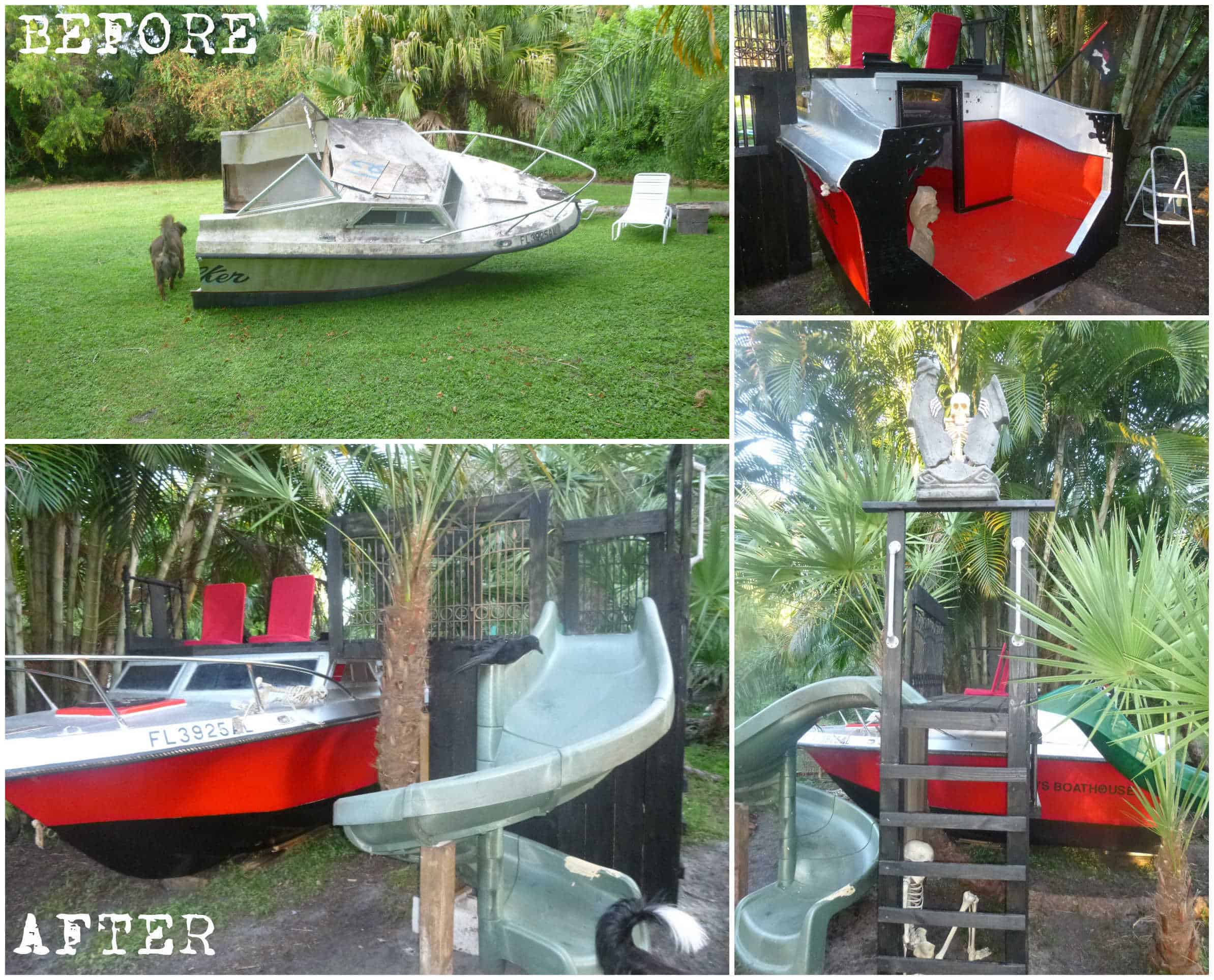 Old Boat Repurposed Into Kids Playhouse • Recycled Ideas ...