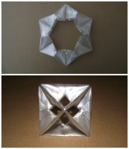 Origami From Upcycled Plastic Bottle