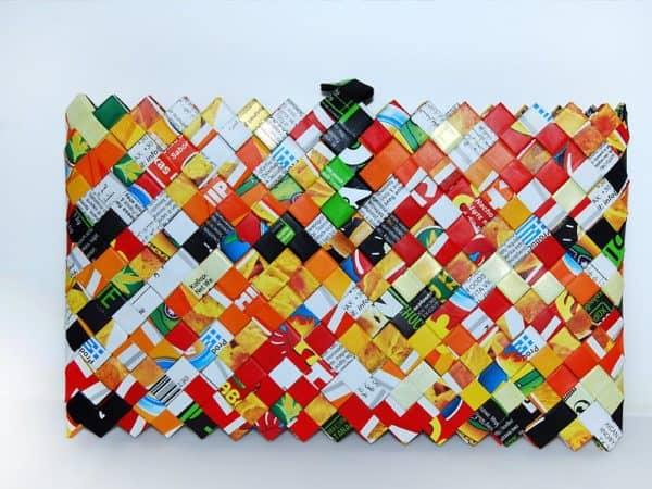 "Origami Handmade Clutch Made Of Nachos & ""Βrioche Kings"" Packs"