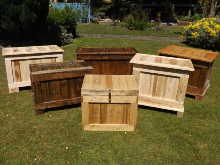 Ottomans & Storage Boxes Made From Recycled Wood