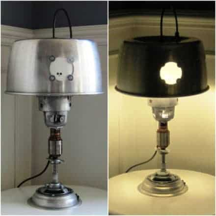 Table Lamp From Upcycled Nilfisk Vacuum Cleaner