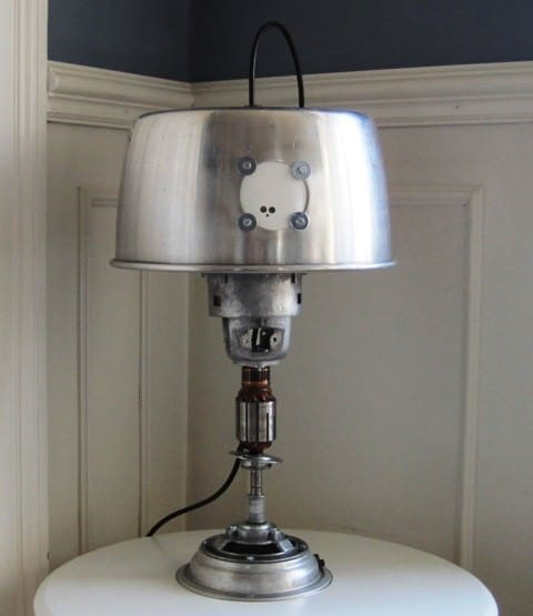 Table Lamp From Upcycled Nilfisk Vacuum Cleaner Lamps & Lights