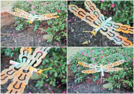 Upcycled Dragonfly Stakes