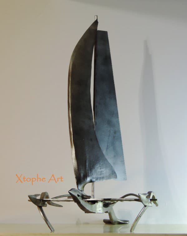 Xtophe Art - Tools Sculptor Recycled Art Recycling Metal