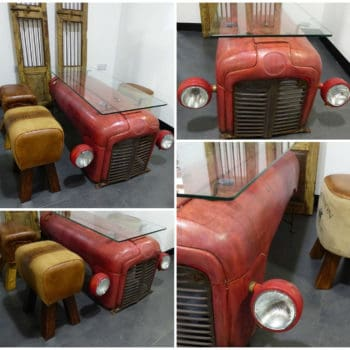 Coffee Table From an Upcycled Massey Ferguson Tractor