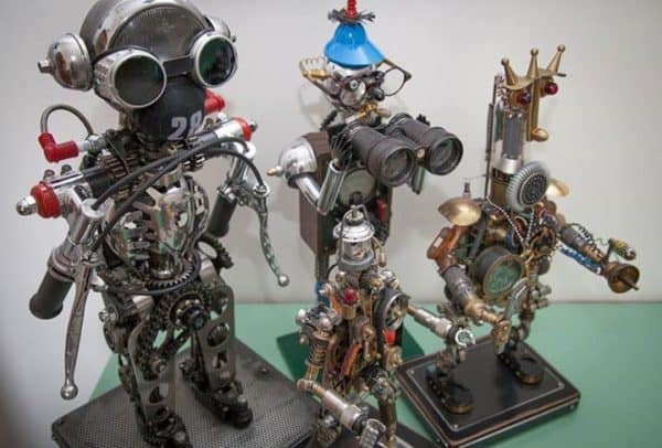 Mechanical Art Mechanic & Friends Recycled Art