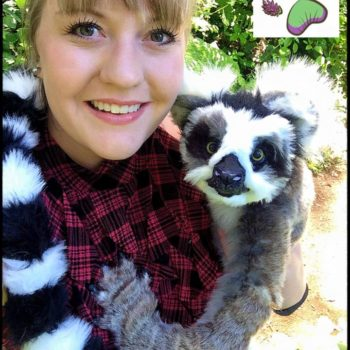 Recycled Clothing Into Poseable Art Doll Ringtailed Lemur