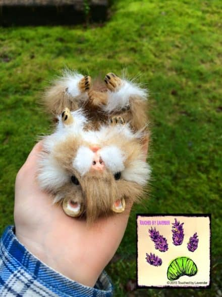 Recycled Clothing Poseable Hamster