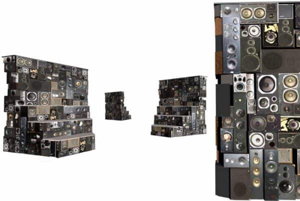 Arena: A Speakers Sculpture Recycled Electronic Waste