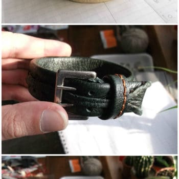 Bracelets From Leather Waste